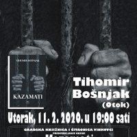 """Tihomir Bošnjak započeo svoju književnu turneju – roman """"Kazamati"""" predstavlja se i u Gradskoj knjižnici i čitaonici Vinkovci"""